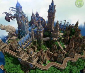 Замок в майнкрафте