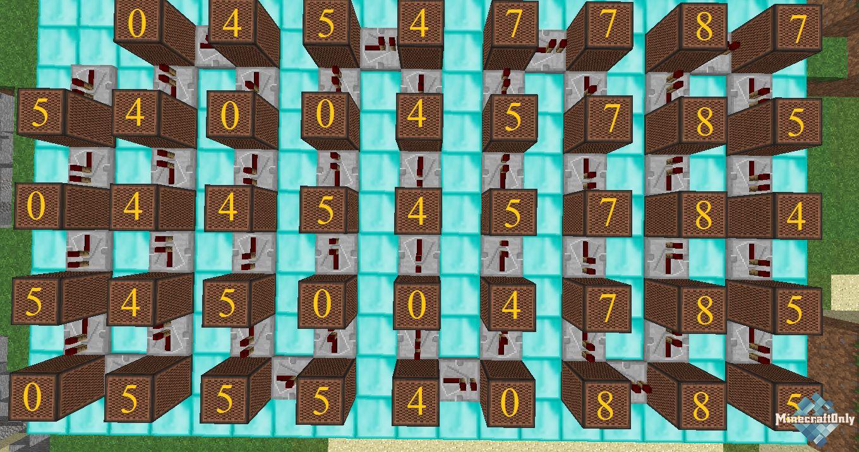 Сложная схема из нотных блоков
