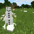 Снеговик в майнкрафте
