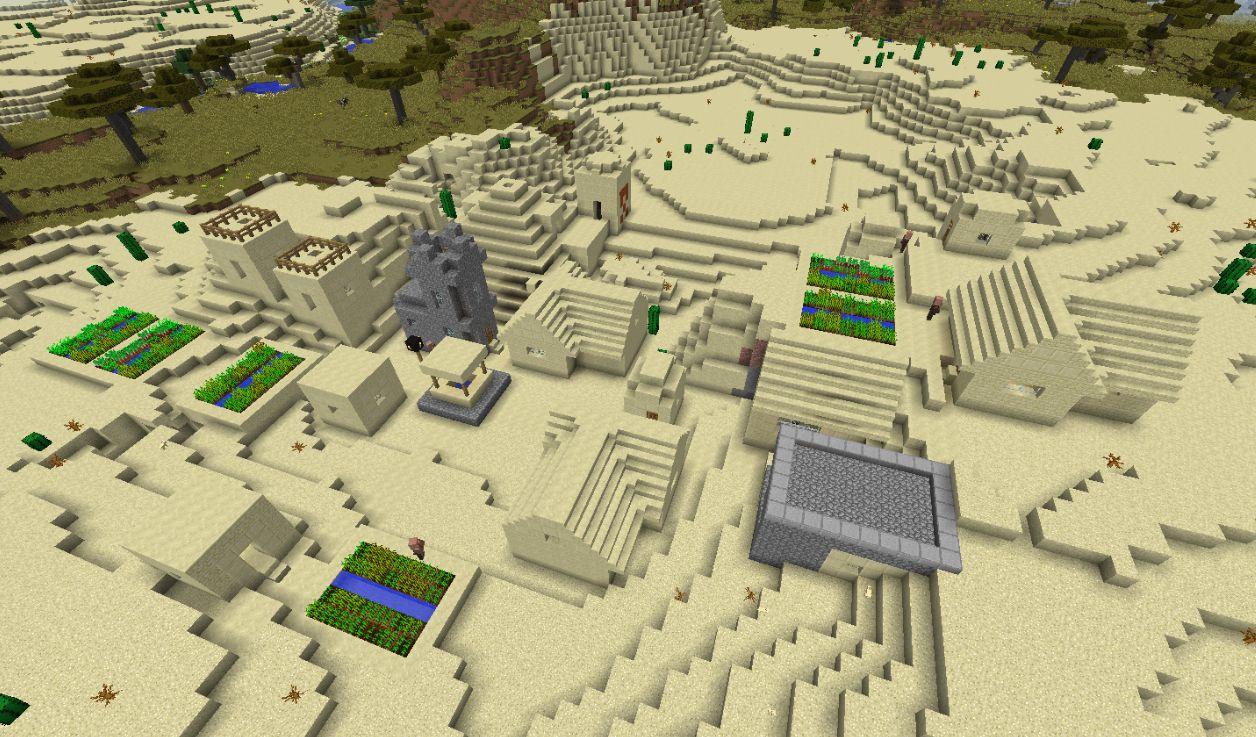как построить деревню в пустыне в майнкрафте #1
