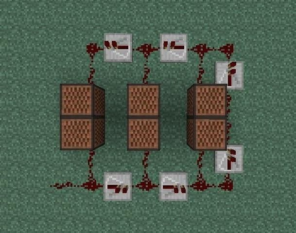 Простая схема из нотных блоков