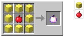 Крафт зачарованного золотого яблока