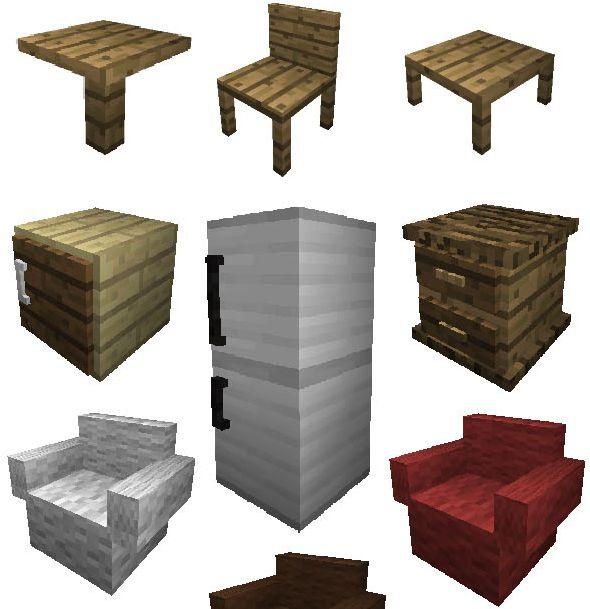 мод на мебель для майнкрафт 1.10 #1