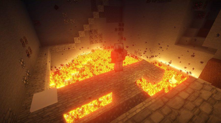 Огонь в майнкрафте