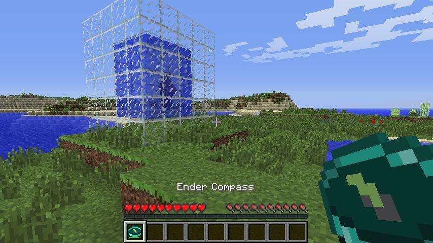 Ender Compass компас показывающий дорогу до портала в Край (Эндер мир)