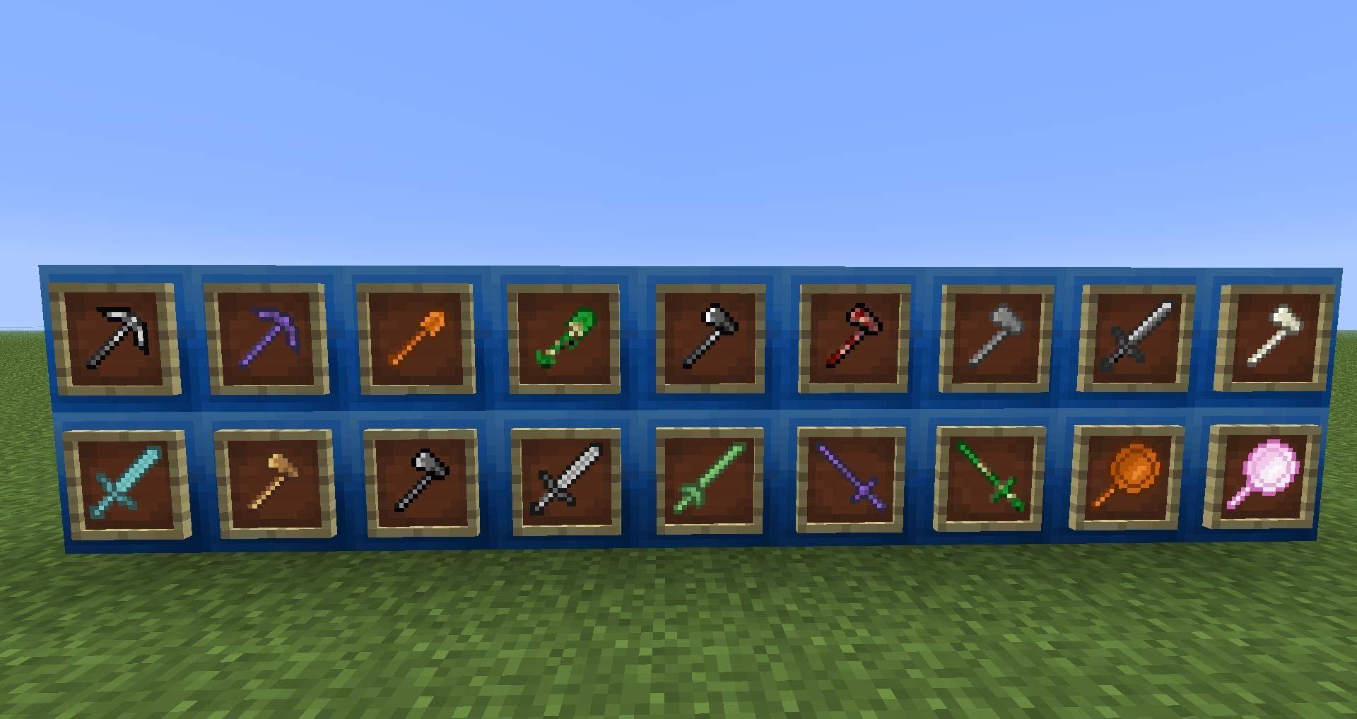 Tinkers Construct новые инструменты и оружие