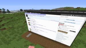 Web Displays - интернет в майнкрафте