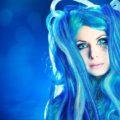 Скины с синими волосами