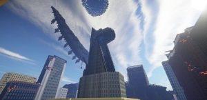 Город с башней Старка из Мстителей