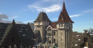 Dark Medieval City & Vampire Castle - зимний средневековый город