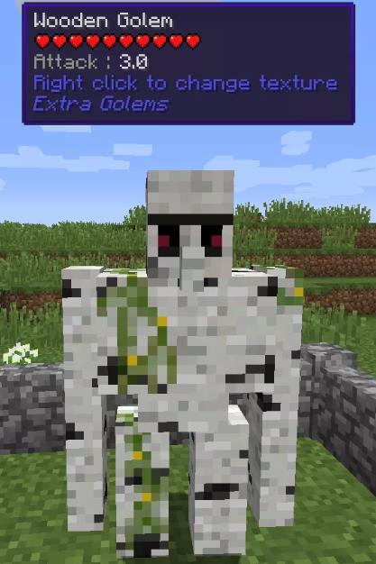 Extra Golems создание големов из разных блоков