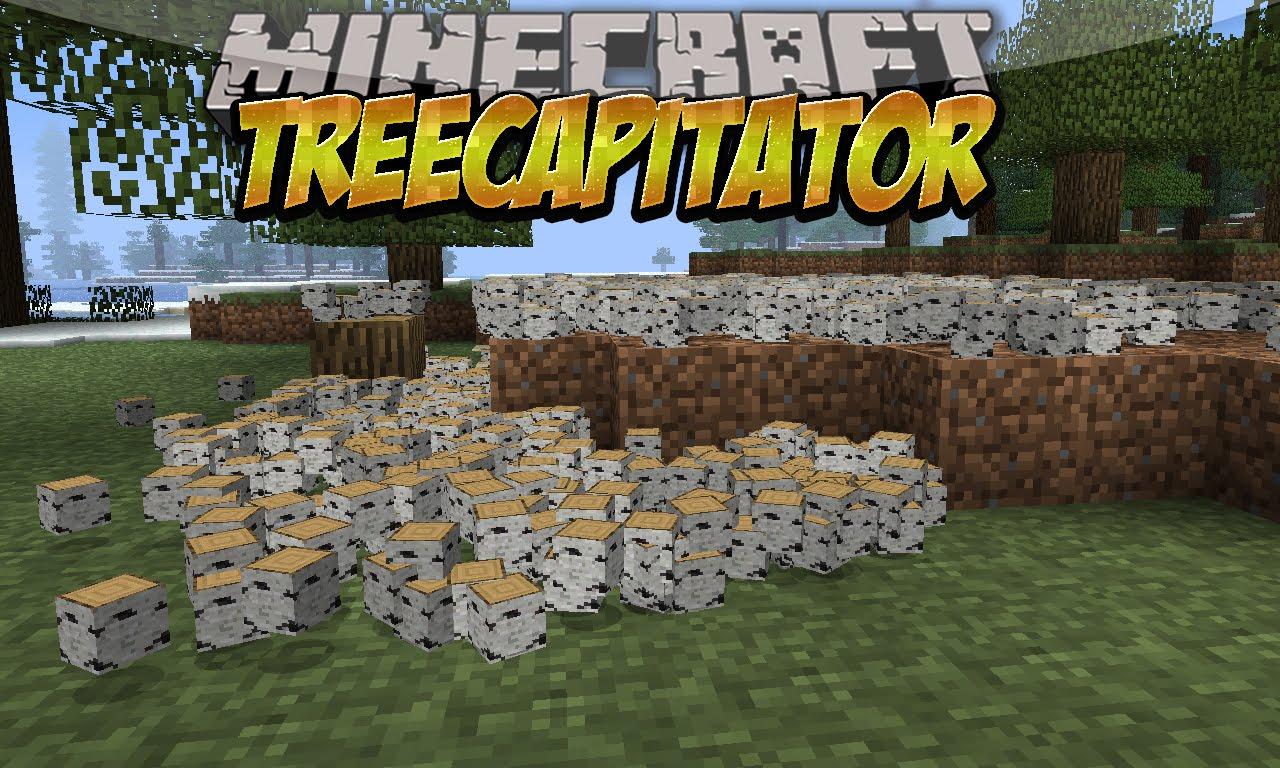 мод быстрая рубка деревьев 1.12.2 TreeCapitator