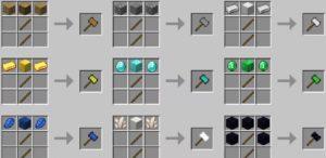 Vanilla Hammers молоты из разных материалов