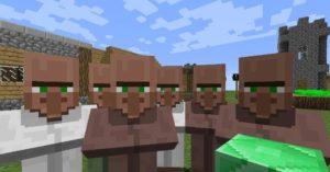 Following Villagers блок который заставит жителей бегать за вами