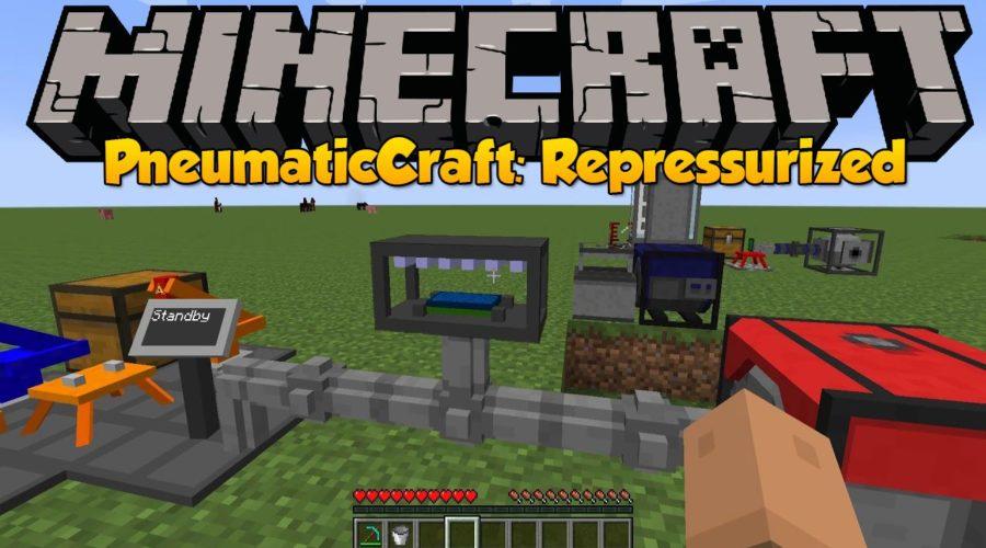 PneumaticCraft + Repressurized паровые двигатели, дроны, лифты