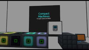 Compact Machines комната размером в 1 блок