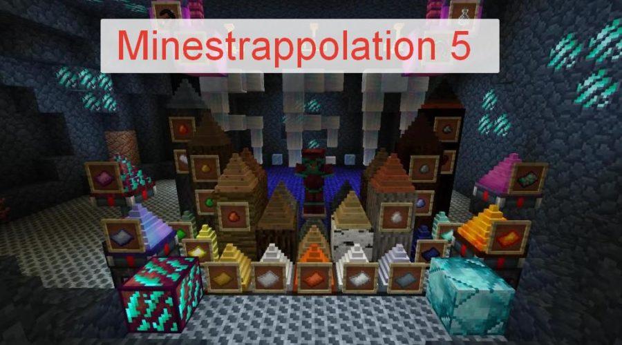 Minestrappolation 5 большой мод с кучей нового контента