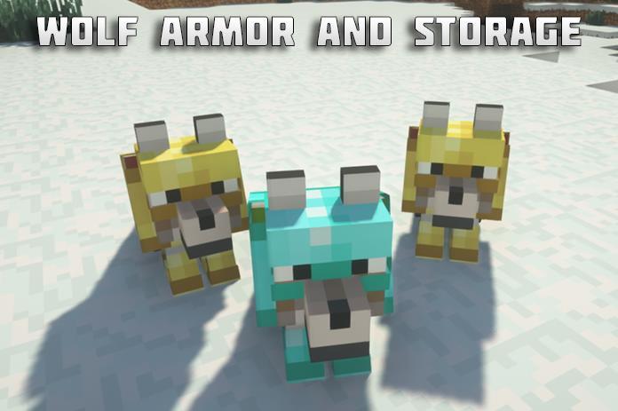 Wolf Armor and Storage броня и сундуки для волков