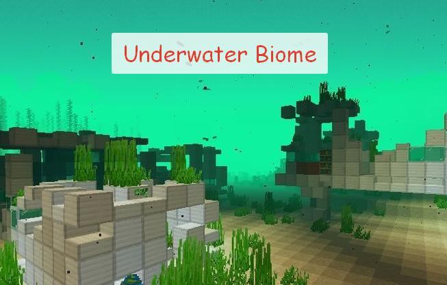 Underwater Biome подводные биомы, мобы и предметы