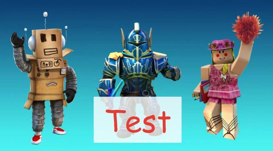 Роблокс тест