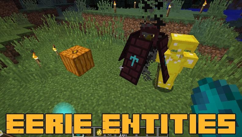 Eerie Entities 4 новых моба в игре