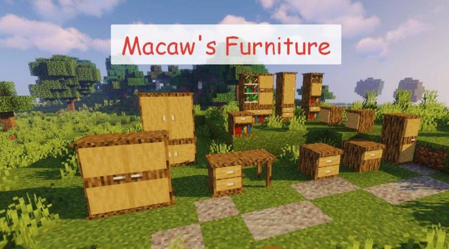 Macaw's Furniture мебель вписывающая в общий стиль майнкрафта