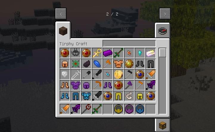 Tirphycraft новые миры, мобы, оружие и предметы