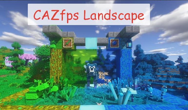 CAZfps Landscape новые биомы и предметы