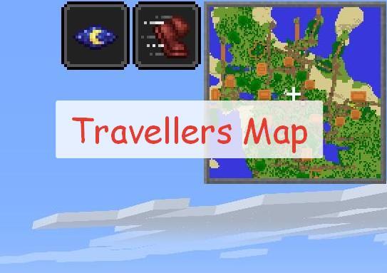 Travellers Map мини карта в правом верхнем углу