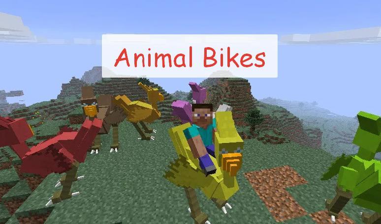 Animal Bikes множество ездовых мобов