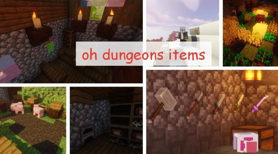 Oh Dungeons Items - предметы из Minecraft Dungeons