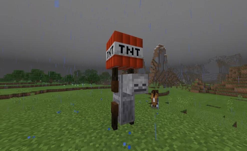 TNT Yeeter - моб кидающийся динамитом