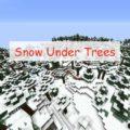 Snow Under Trees снег под деревьями