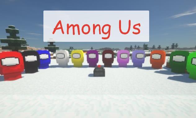 Among Us - мобы космонавты, декоративные элементы и блоки