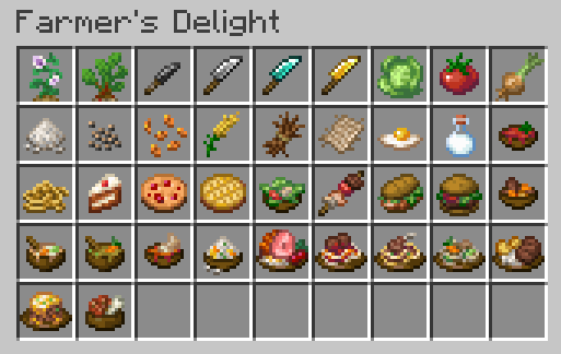 Farmer's Delight новая еда и способы ее приготовления