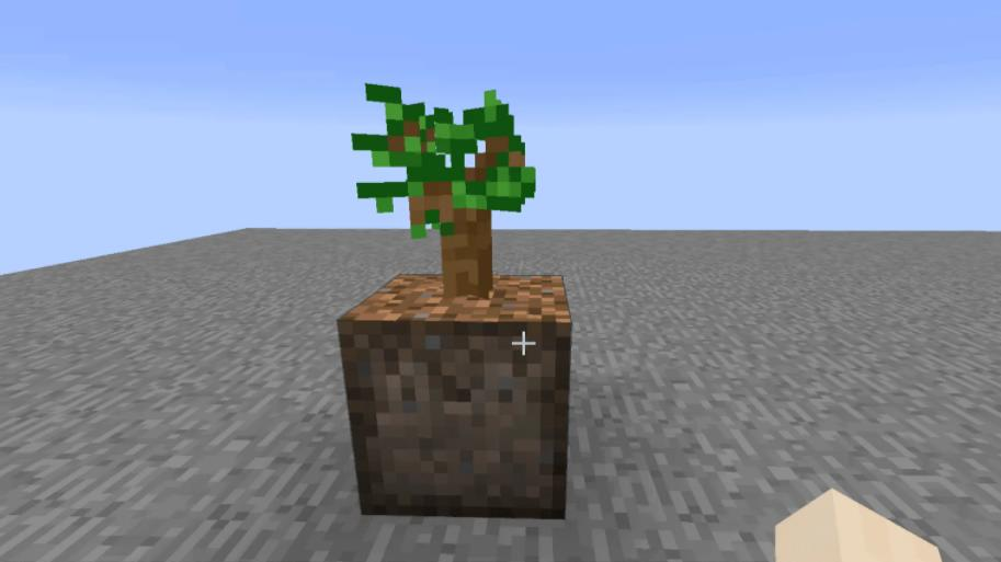Planting Dirt for Saplings блок с автоматической посадкой растений