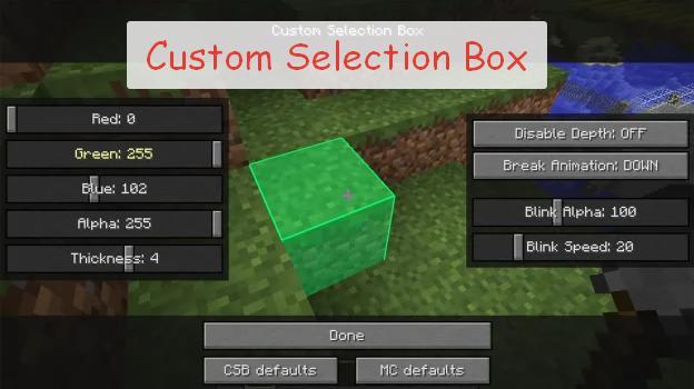 Custom Selection Box изменения рамки контура предмета