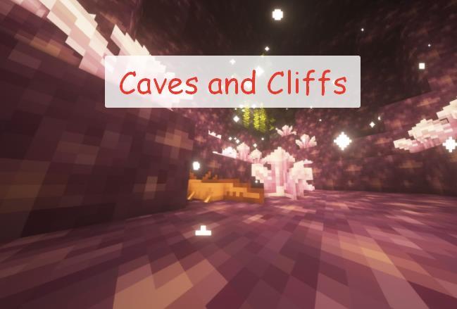 Caves and Cliffs измененные пещеры из 1.17