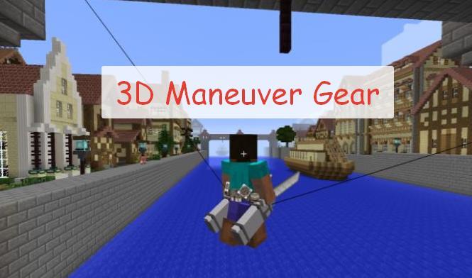 3D Maneuver Gear гарпуны для быстрого передвижение из аниме Атака Титанов