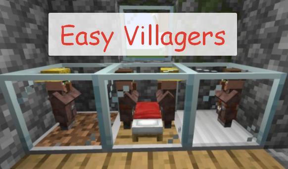 Easy Villagers террариумы для хранения живых жителей