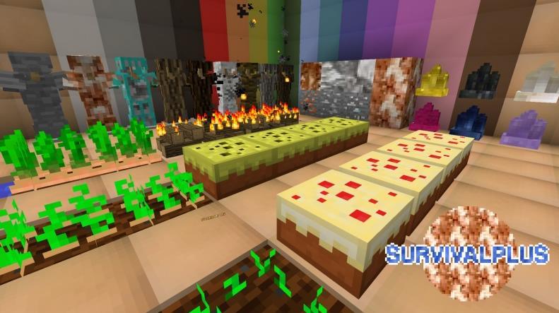 SurvivalPlus множество новых руд и драгоценных камней