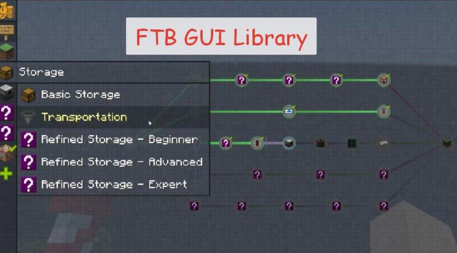 FTB GUI Library мод для создания графического интерфейса