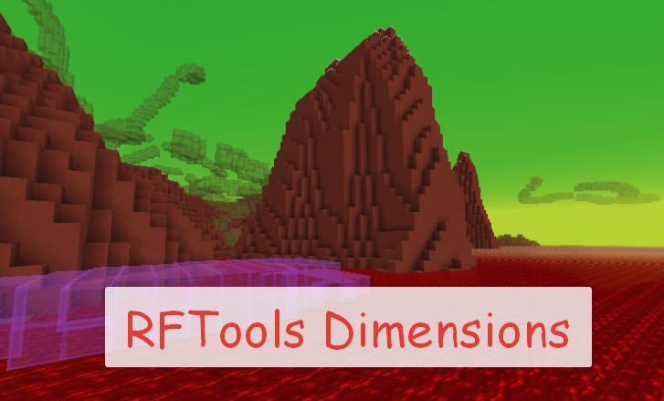 RFTools Dimensions установки для создания измерений
