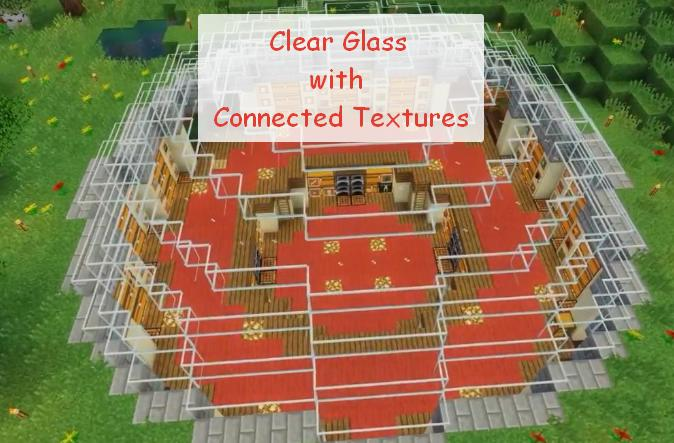 Clear Glass with Connected Textures