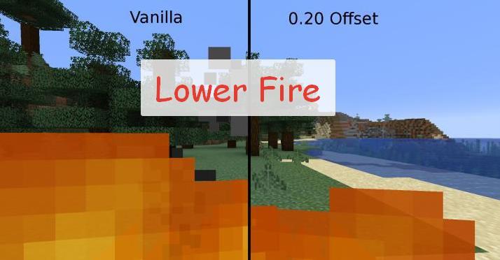 Lower Fire изменение видимости при возгорании персонажа