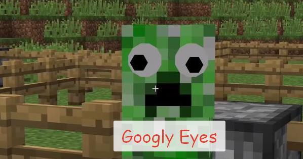 Googly Eyes большие глаза для мобов (прикольный мод)