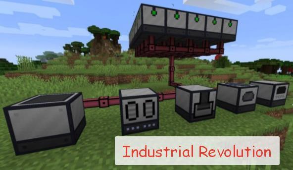 Industrial Revolution индустриальный мод на энергию, инструменты и механизмы
