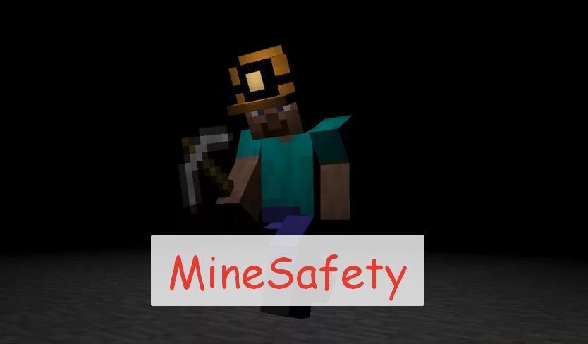 Mine Safety под землей в шлеме