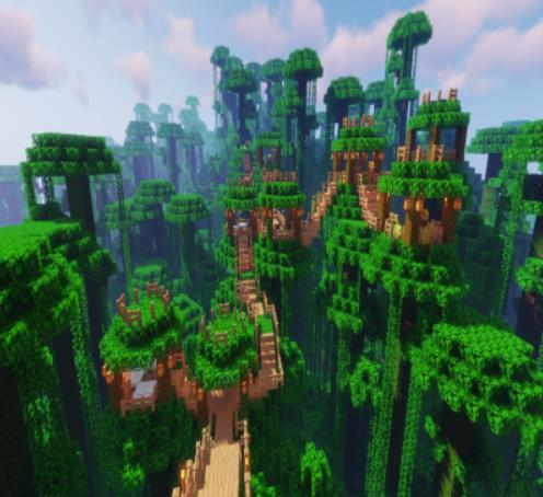 Jungle Villages деревни в джунглях на деревьях