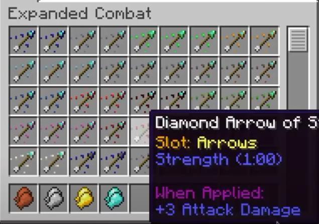 Expanded Combat колчан, луки и новые разновидности стрел
